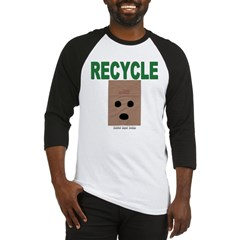 Recycle Paper Bags Baseball Jersey T-Shirt
