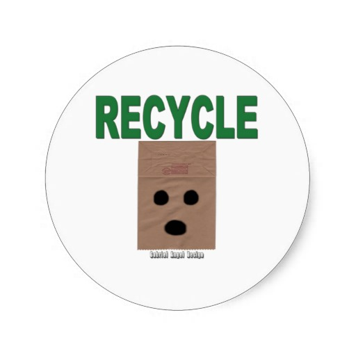 Recycle Paper Bags Classic Round Sticker