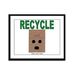 Recycle Paper Bags Framed Panel Print