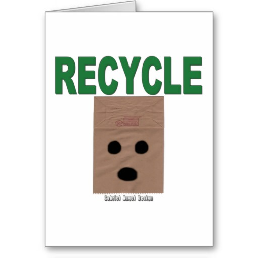 Recycle Paper Bags Greeting Card