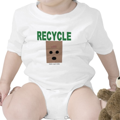 Recycle Paper Bags Infant Creeper