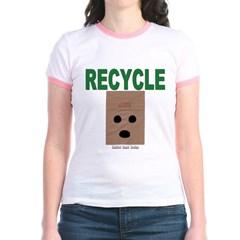 Recycle Paper Bags Junior Ringer T-Shirt
