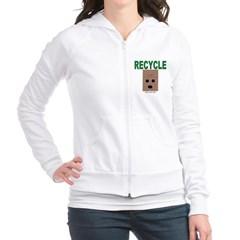 Recycle Paper Bags Junior Zip Hoodie