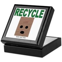 Recycle Paper Bags Keepsake Box