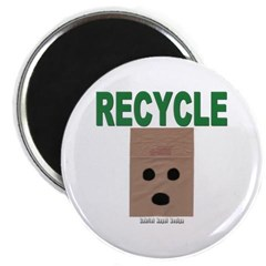 Recycle Paper Bags Magnet
