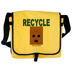Recycle Paper Bags Messenger Bag