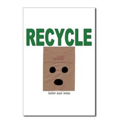 Recycle Paper Bags Postcards (Package of 8)