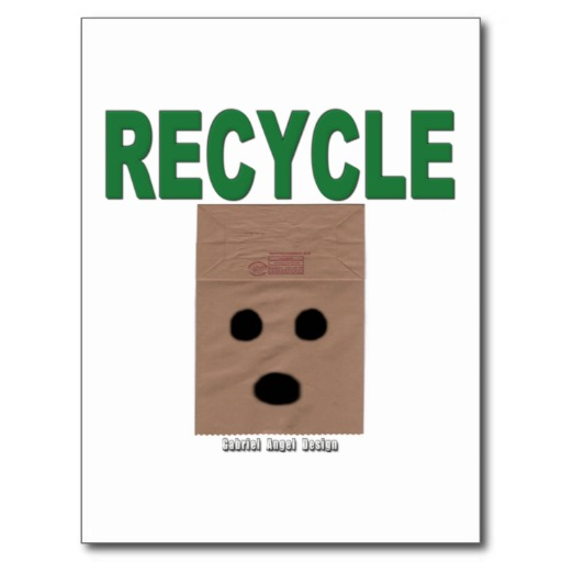 Recycle Paper Bags Postcard
