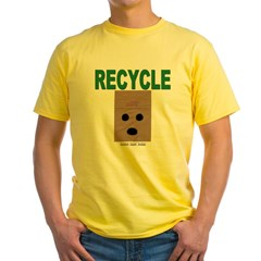 Recycle Paper Bags Yellow T-Shirt