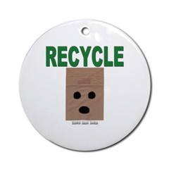 Recycle Paper Ornament (Round)