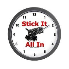 Stick it All in Wall Clock