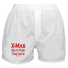 X-Mas Do It For The Ho's Men's Boxer Shorts
