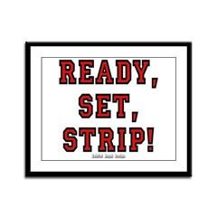 Ready, Set, Strip! Framed Panel Print