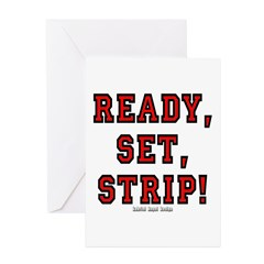 Ready, Set, Strip! Greeting Cards (Pk of 20)