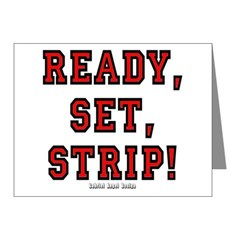 Ready, Set, Strip! Note Cards (Pk of 20)