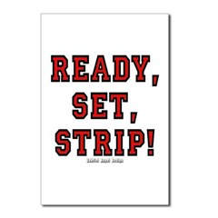 Ready, Set, Strip! Postcards (Package of 8)