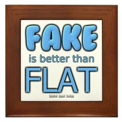Fake is Better Than Flat Framed Tile
