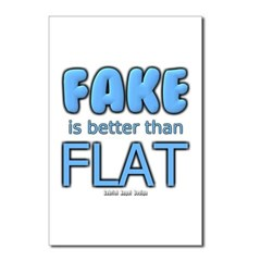 Fake is Better Than Flat Postcards (Package of 8)