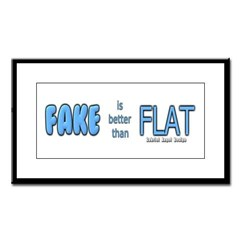 Fake is Better Than Flat Small Framed Print