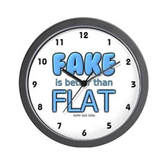 Fake is Better Than Flat Wall Clock