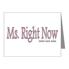 Ms. Right Now Note Cards (Pk of 10)