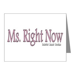 Ms. Right Now Note Cards (Pk of 20)