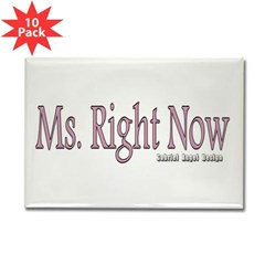 Ms. Right Now Rectangle Magnet (10 pack)