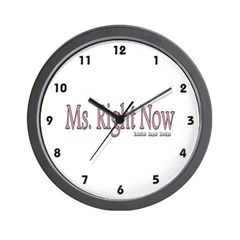 Ms. Right Now Wall Clock