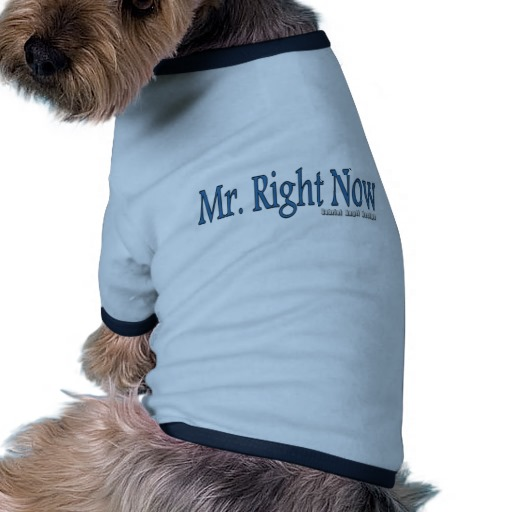 Mr. Right Now Doggie Ringer T-Shirt