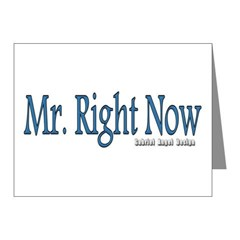 Mr. Right Now Note Cards (Pk of 20)