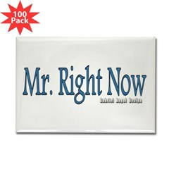 Mr. Right Now Rectangle Magnet (100 pack)