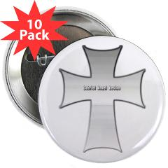 "Silver Cross 2.25"" Button (10 pack)"
