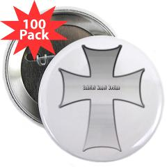 "Silver Cross 2.25"" Button (100 pack)"