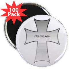 "Silver Cross 2.25"" Magnet (100 pack)"