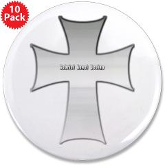 "Silver Cross 3.5"" Button (10 pack)"