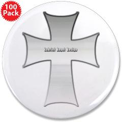 "Silver Cross 3.5"" Button (100 pack)"