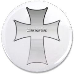 "Silver Cross 3.5"" Button"