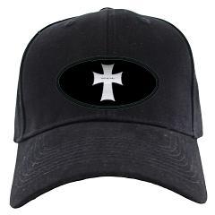Silver Cross Black Cap