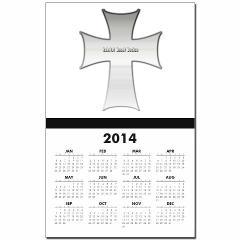 Silver Cross Calendar Print