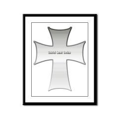 Silver Cross Framed Panel Print