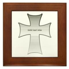 Silver Cross Framed Tile