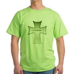 Silver Cross Green T-Shirt