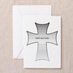 Silver Cross Greeting Card