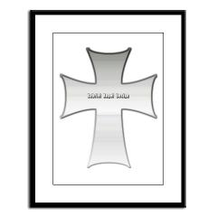 Silver Cross Large Framed Print