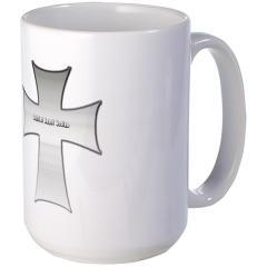 Silver Cross Large Mug