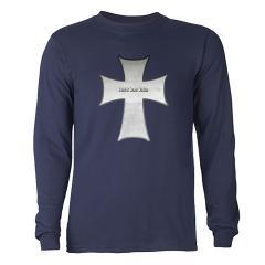 Silver Cross Long Sleeve Dark T-Shirt