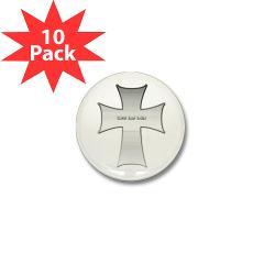 Silver Cross Mini Button (10 pack)