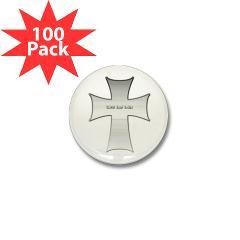 Silver Cross Mini Button (100 pack)