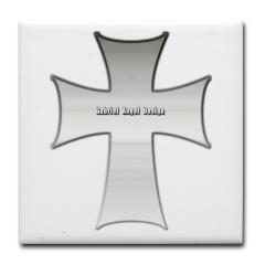 Silver Cross Tile Coaster