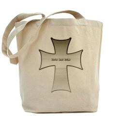 Silver Cross Tote Bag